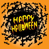 Happy halloween holiday design. Stock Photos
