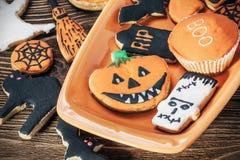 Happy Halloween homemade cookies Stock Image
