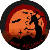 Happy halloween horror landscape with scary tree Stock Images