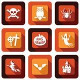 Happy Halloween icon design set Stock Photo