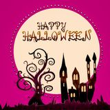 Happy halloween - illustration Stock Photography