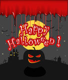 Happy Halloween illustration Stock Image