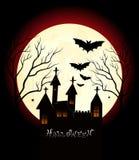 Happy halloween. Illustration of happy halloween day background Stock Photography
