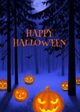Happy Halloween illustration poster or postcard. Art illustration Royalty Free Illustration