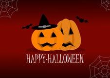 Happy halloween illustration poster royalty free illustration