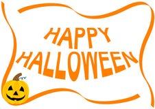Happy Halloween illustration with pumpkin Stock Image