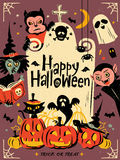 Happy Halloween illustration Stock Image