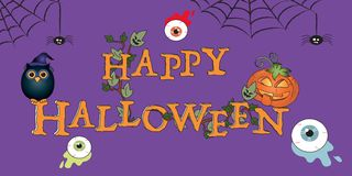 Happy halloween. Illustration with written happy halloween Royalty Free Stock Image