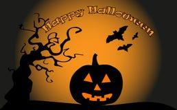 Happy halloween. Illustrator  wallpaper or banner Royalty Free Stock Photo