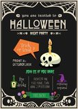 Happy halloween invitation card. Royalty Free Stock Images
