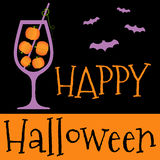 Happy Halloween invitation or greeting card. Royalty Free Stock Image