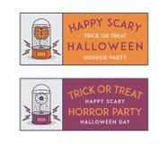 Happy Halloween invitation tickets Royalty Free Stock Photos