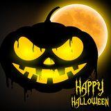 Happy Halloween with Jack o lantern pumpkin Royalty Free Stock Images