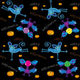 Happy halloween kids pattern Royalty Free Stock Photos