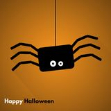 Happy Halloween. Label with Spider. Made in vector Royalty Free Stock Images