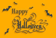Happy Halloween lettering Greeting Card Royalty Free Stock Image