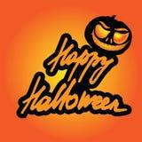 Happy Halloween lettering vector illustration