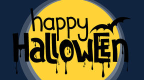 Happy Halloween Lettering Royalty Free Stock Photo