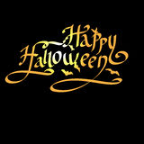 Happy Halloween lettering vector greeting card Stock Images