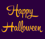 Happy Halloween - lettering Stock Photography