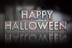 Happy Halloween Letterpress Royalty Free Stock Photography