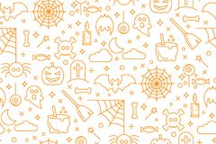Abstract seamless Halloween wallpaper pattern as a background Royalty Free Stock Photography