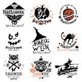 Happy Halloween logo and illustration. Royalty Free Stock Photography