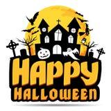 Happy Halloween logo. Royalty Free Stock Photos