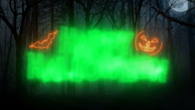 Happy Halloween Loop Animation/ Forest Background stock video