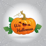 Happy Halloween we love Halloween pumpkin vector illustration Stock Images