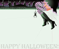 Happy halloween magic background Royalty Free Stock Image