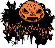 Happy Halloween message design background Stock Photo