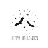 Happy Halloween message design background. Sketchy hand drawn ab Royalty Free Stock Image