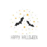 Happy Halloween message design background. Sketchy hand drawn  Royalty Free Stock Images