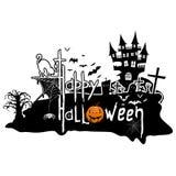Happy Halloween message design background, vector illustration. Vector illustration Happy Halloween message design background Royalty Free Stock Photography