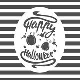 Happy Halloween message Royalty Free Stock Images
