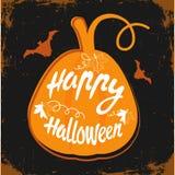 Happy Halloween message Stock Images