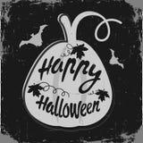 Happy Halloween message Stock Photos