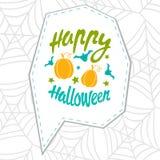 Happy Halloween message Stock Image