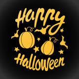 Happy Halloween message design background. Vector illustration. This illustration can be used as a greeting, invitation, poster, print on t-shirt or bag Stock Illustration