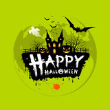 Happy Halloween message design Royalty Free Stock Photo