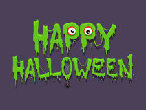 Happy Halloween Message Greetings Stock Image