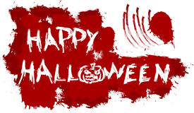 Happy Halloween message on patches background Royalty Free Stock Image