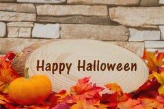 Happy Halloween message Royalty Free Stock Image