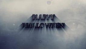 Happy Halloween Metallic Message with Eyes 4K Loop