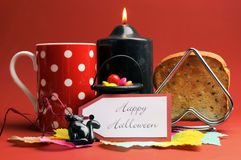 Happy Halloween morning breakfast Stock Images