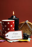 Happy Halloween morning breakfast - Vertical. Stock Image