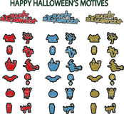 Happy Halloween Motives Stock Image