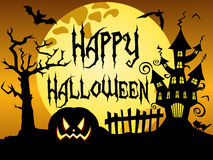 Happy Halloween night background Royalty Free Stock Photo