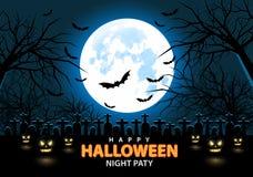 Happy Halloween night party design holiday festival background vector. Happy Halloween night party design holiday festival background vector illustration Royalty Free Stock Photos